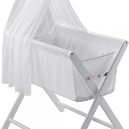 Mothers Choice Coco Folding  Air Mesh Flow Bassinet - White
