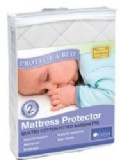 Protect-a-bed Cotton Quilted Fitted Bassinette 45 x 80, White