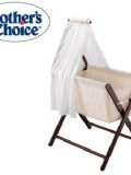 Mothers Choice COCO Folding Air Mesh Bassinet - Walnut