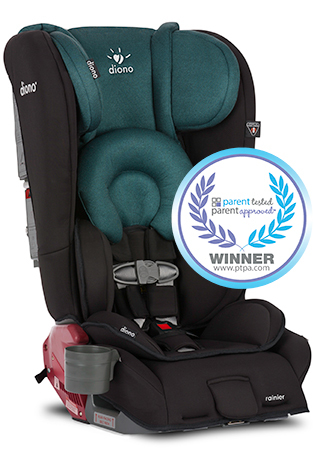 Diono Rainer Convertible Carseat/Booster - Black Forest 2016