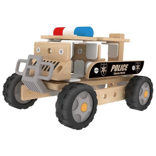 Classic - Wooden Builder Police Car