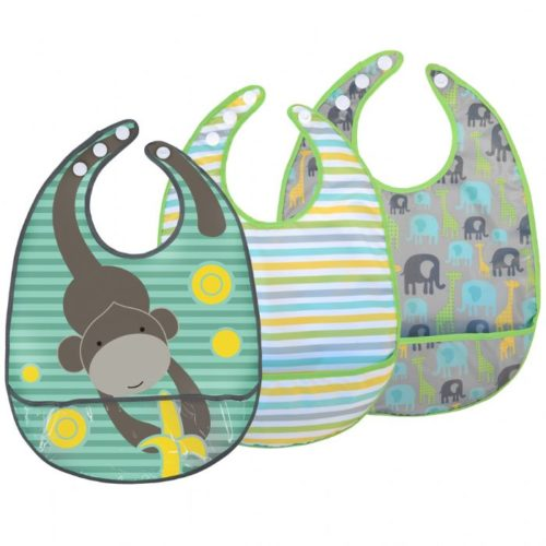 JJ Cole Bib Set - Grey Safari