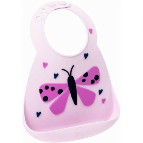 Baby Silicon Bib - Butterfly