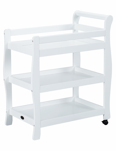 White Sleigh 3 Tier Change Table