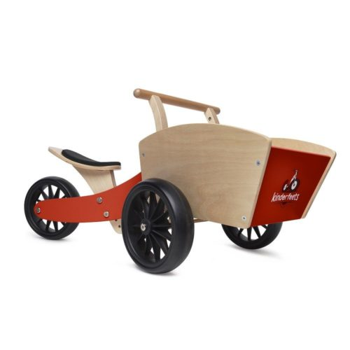 Kinderfeets- Wooden Cargo Trike -Red