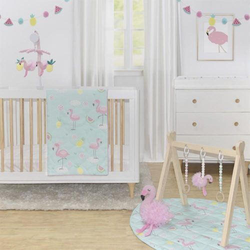 Living Textiles - Flamingo 4pce Cot Set