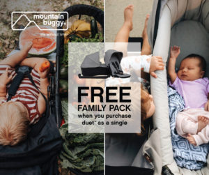 Mountain Buggy Duet-sgl with FREE Family Pack (Black)