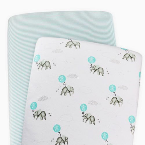 Living Textiles Dream Big Cot Fitted Sheet 2pk